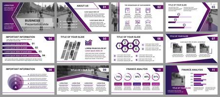 Geschäftspräsentation schiebt Vorlagen von infographic Elementen. Kann für Präsentationsvorlagen, Flyer und Prospekt, Broschüre, Unternehmensbericht, Marketing, Werbung, Jahresbericht, Banner verwendet werden. vektor