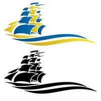 Segling Ship Vector Graphic Illustration