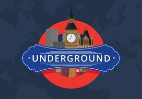 London City Public Transport mit berühmtem Gebäude vektor