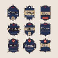 Insamling av retro eller vintage etiketter vektor
