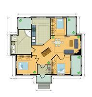 Farbplan Landhaus vektor