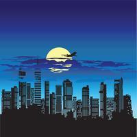 Schattenbild der Stadt