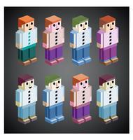 Menschen in verschiedenen Farben vektor