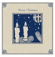 Antike Weihnachtskarte vektor