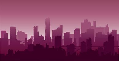 Nattlig city2 vektor