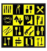 Eine Reihe von Tools vektor