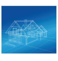 Ein Landhaus vektor