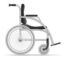 Rollstuhl für Vektorillustration der behinderten Menschen auf Lager