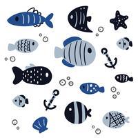 Fischvektor-Sammlungsdesign