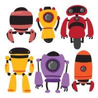 Design der Roboter-Vektor-Sammlung vektor