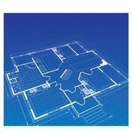 Planen Sie ein Landhaus vektor