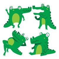 krokodil karaktär vektor design
