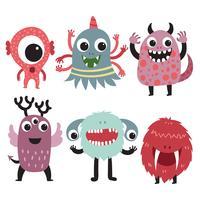Monster Charakter Sammlung Design vektor