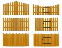 Holzzaun-Vektor-Illustration