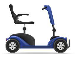 elektrischer Rollstuhl für Vektorillustration der behinderten Menschen auf Lager vektor