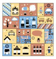 Urban anläggningar och människor vektor