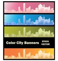 Stadsbanner vektor