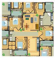 Färgplan hus vektor