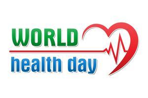 Weltgesundheitstageslogotextfahnen-Vektorillustration