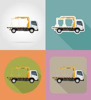 bogsering lastbil för transport fel och nödbilar bil ikoner vektor illustration