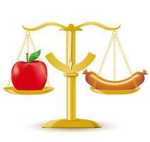 vågar val diet eller fetma vektor