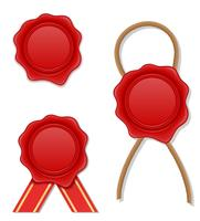 rote Wachs Stempel Vektor-Illustration