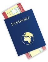 pass och flygbiljett vektor illustration