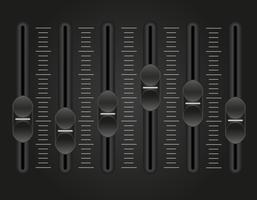 Panel-Konsole-Sound-Mixer-Vektor-Illustration