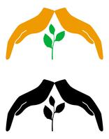 begrepp av skydd och kärlek av växter natur vektor illustration