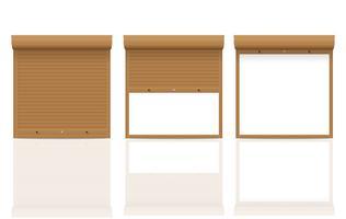 braune Rollladen-Vektorillustration