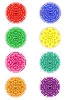 Stellen Sie Ikonenbogen für Geschenkvektorillustration ein