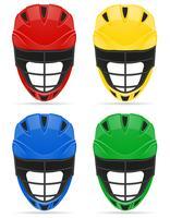 Lacrosse-Helme-Vektor-Illustration