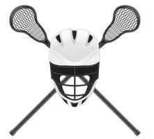 lacrosse utrustning vektor illustration