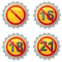 öllock med förbud mot åldersvektorillustration