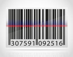 Barcode mit dem Streifen aus der Laser-Vektor-Illustration