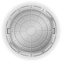 geschlossene Mannloch-Vektor-Illustration