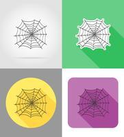 Spinne vermählte flache Ikonenvektorillustration