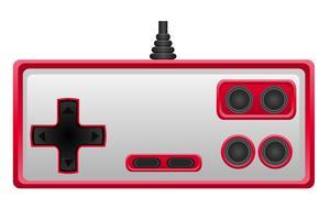 Joystick für Spielekonsolenvektorillustration ENV 10 vektor