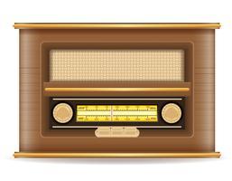 radio gammal retro vintage ikon lager vektor illustration