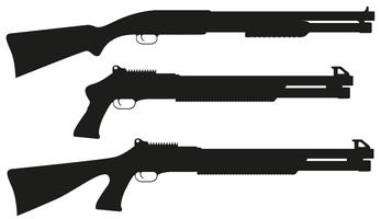 hagelgevär svart silhuett vektor illustration