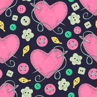 Nahtloses Muster gestricktes Kleidungsgewirr der Speichen. Handzeichnung. Vektor-illustration
