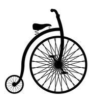 cykel gammal retro vintage ikon lager vektor illustration