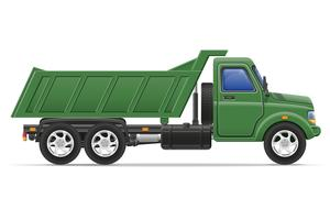 Fracht-LKW für den Transport von Waren Vektor-Illustration vektor