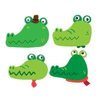 Krokodil-Charakter-Vektor-Design vektor
