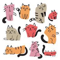 Katze Charakter Vektor Design