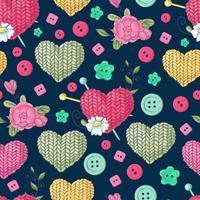 Seamless mönstret stickat klädesplagg av ekrar. Handritning. Vektor illustration