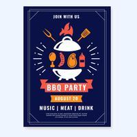 BBQ-Party-Plakat-Vektor vektor