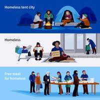 Hemlösa människor Horisontella banderoller