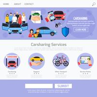 Layout des Carsharing-Service-Web-Templates
