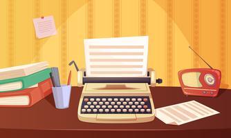 Retro Gadgets Cartoon Hintergrund